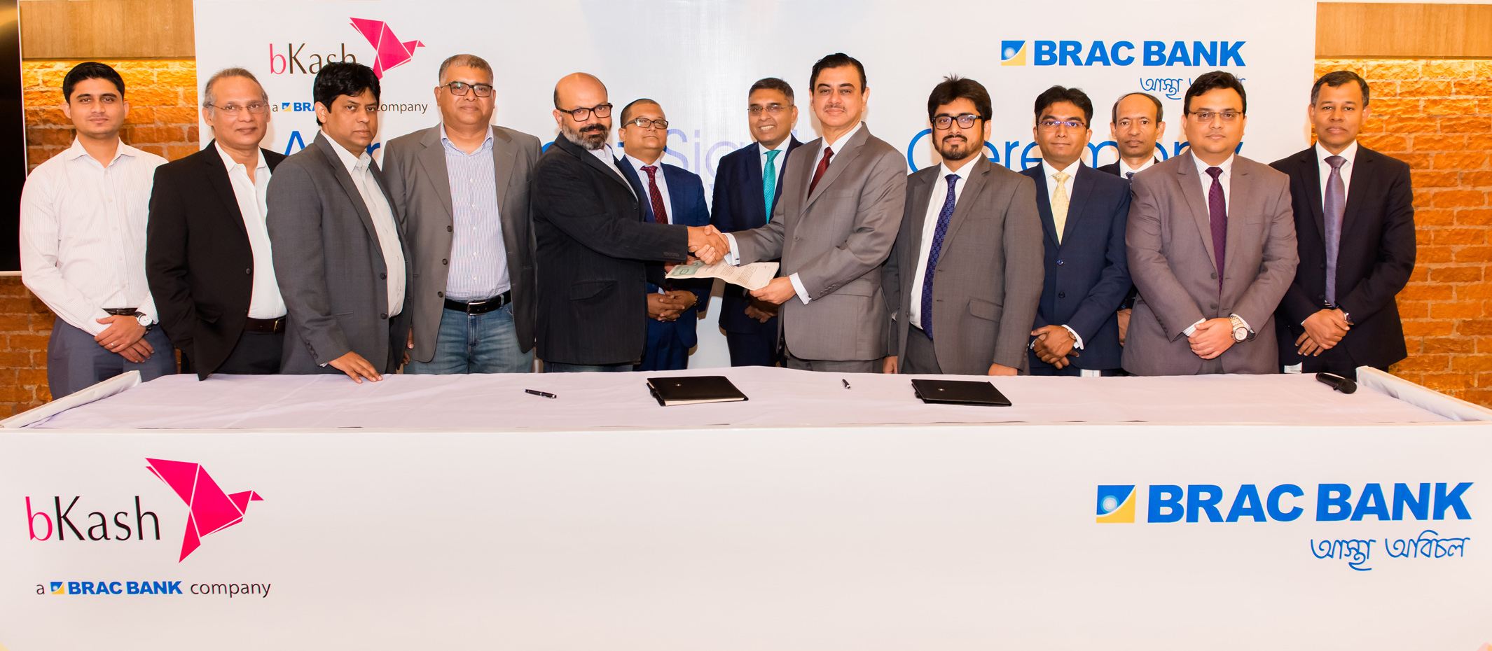 BRAC Bank & bKash sign agreement for fund transfer facility between