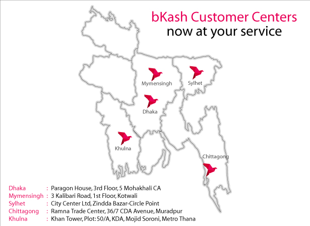 bKash Customer Centers now at your service | bKash